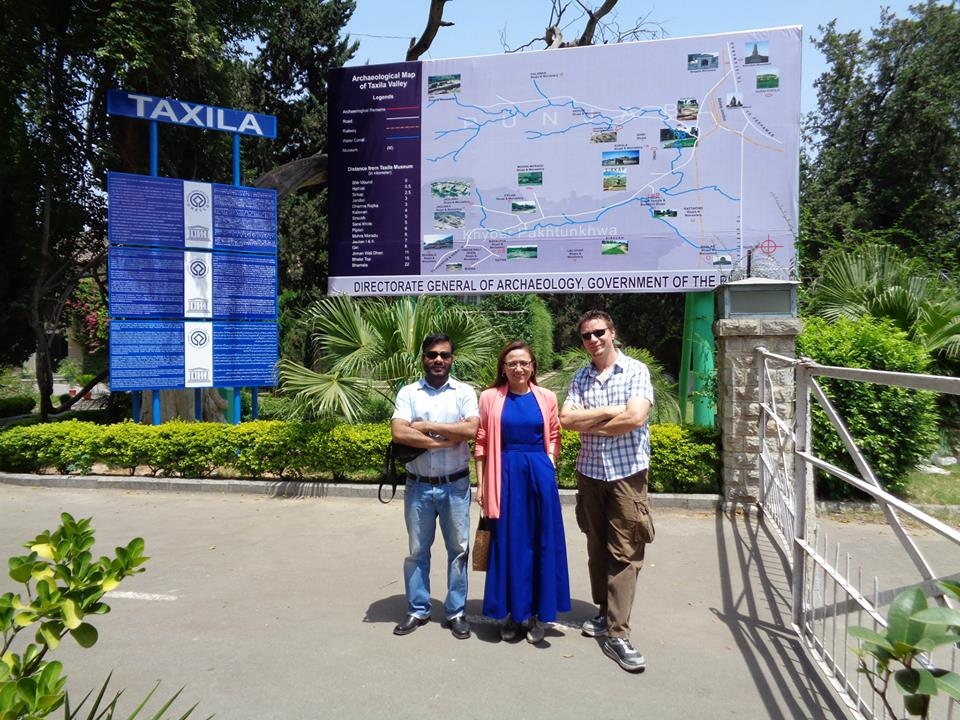 Altaf, Marisol and Lars, CIIT, March 2015, Taxila, Pakistan